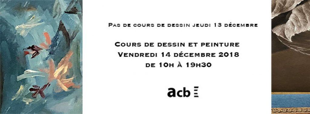 Cours dessin vendredi 14 décembre
