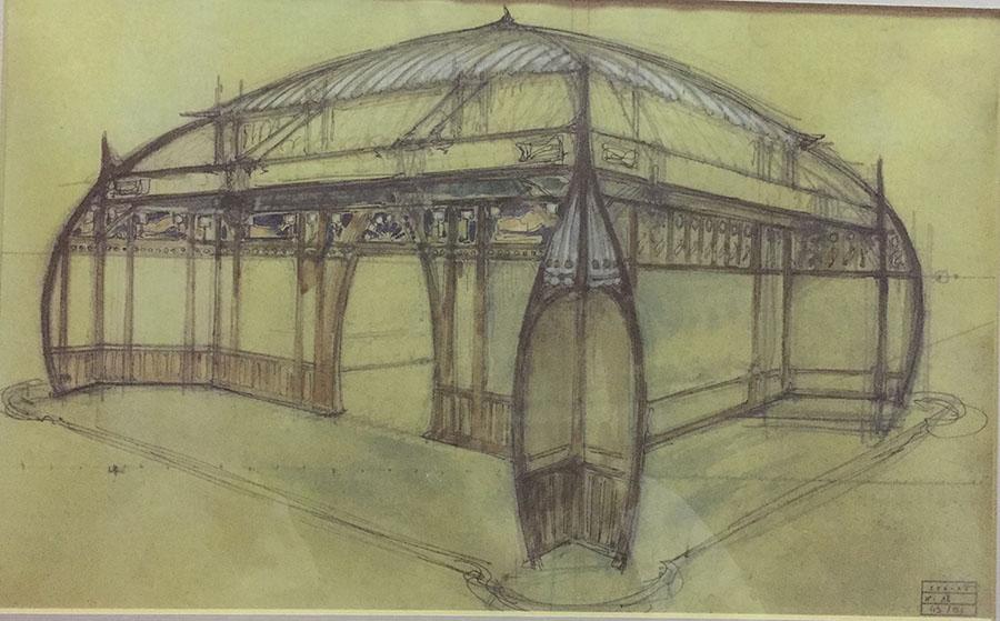 Esquisse Art Nouveau Atelier Bardy